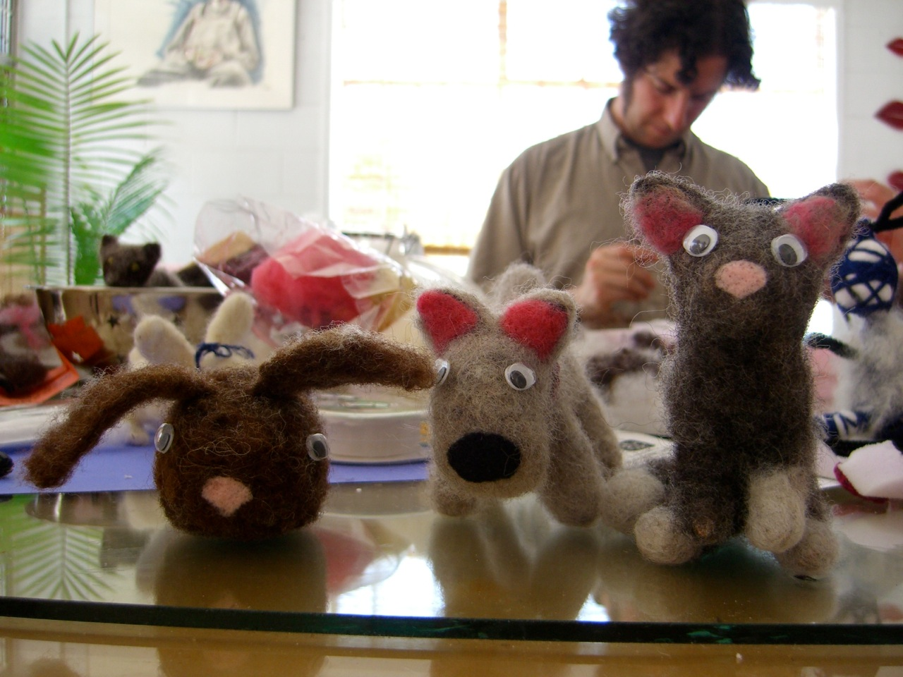 A Menagerie of Felted Creatures